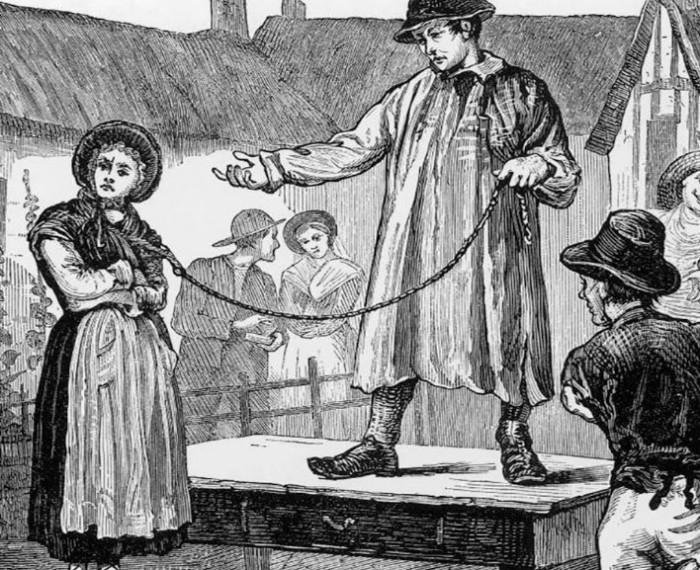 Как англичане продавали своих жен на рынке