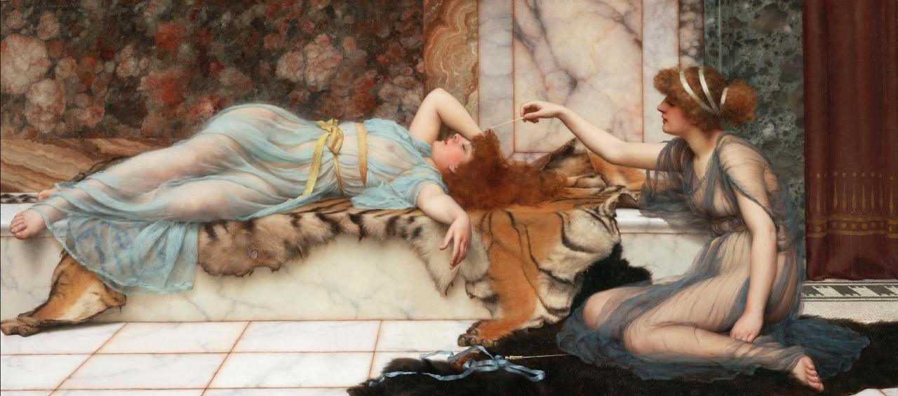 1895_Озорница и спящая (Лос-Анжелес, музей Пола Гетти)