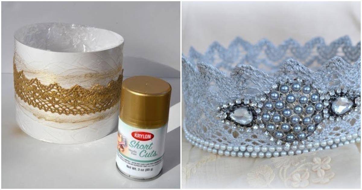Очаровательная корона для принцессы из очень нестандартного материала
