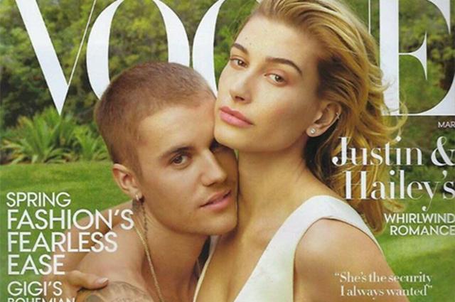 Джастин Бибер и Хейли Болдуин снялись для Vogue в первой семейной фотосессии