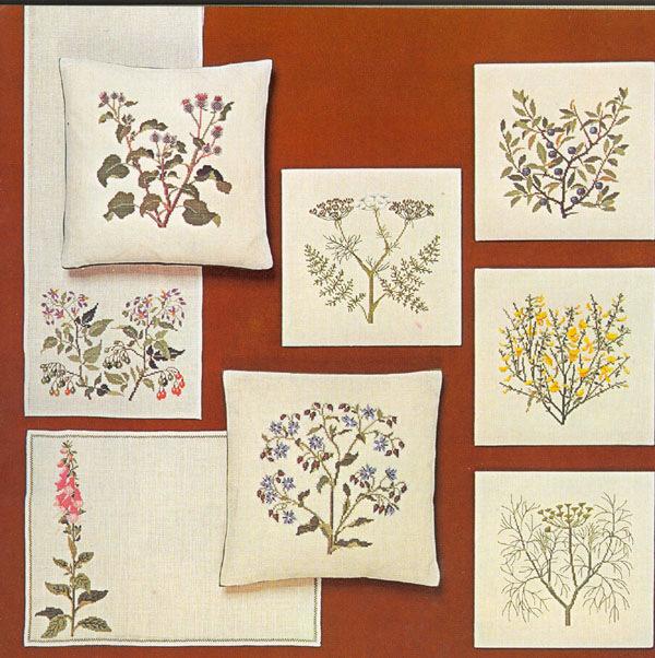"""Ботаническая вышивка крестом — схемы вышивок на тему """"Полевые цветы"""""""