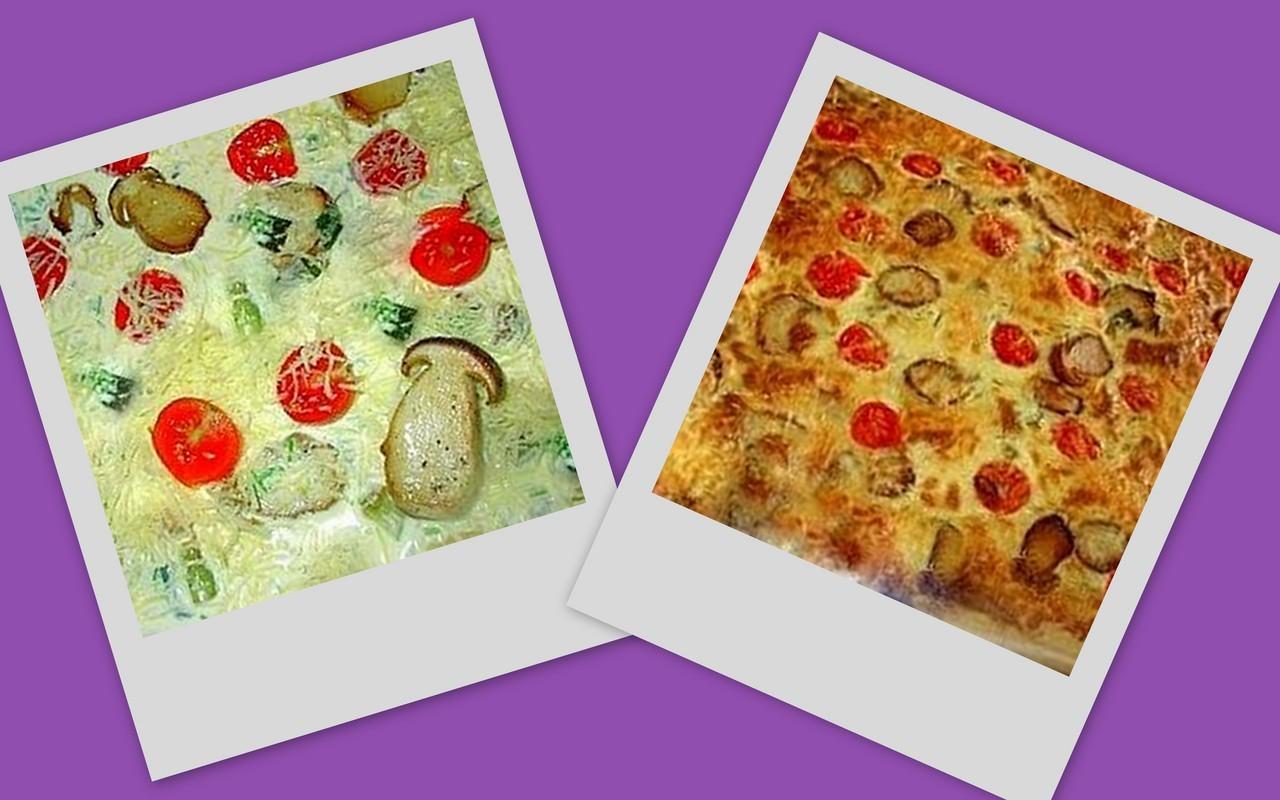 Пицца на слоённом тесте . Фото-рецепт. Olga Dell