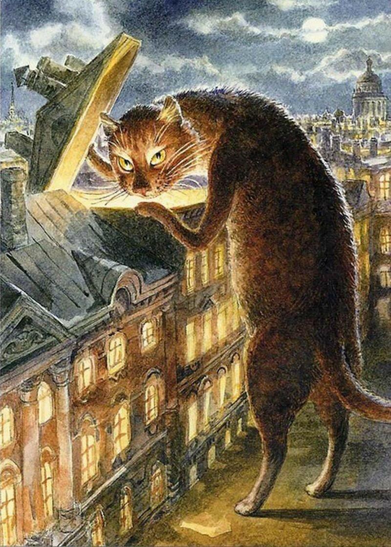 Словами увидеть, петербургские коты картинки