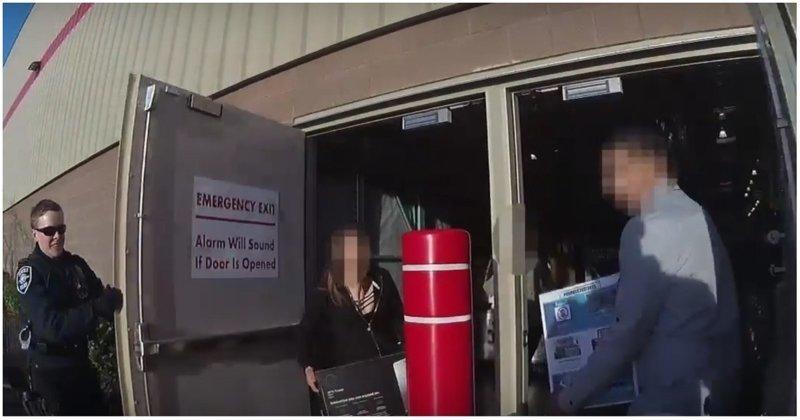 Полиция поджидала медлительных воров на выходе из магазина видео, воры, задержание, кража, магазин, полиция, сша