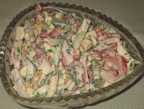 Обалденный салат с копченым …
