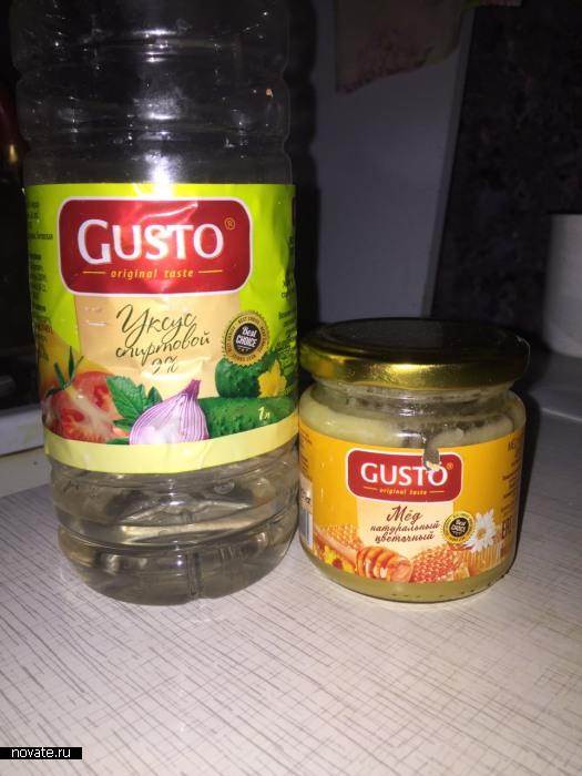 Уксус быстро проверит качество мёда.