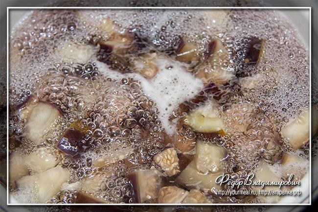 Баклажаны с чесноком и укропом на зиму