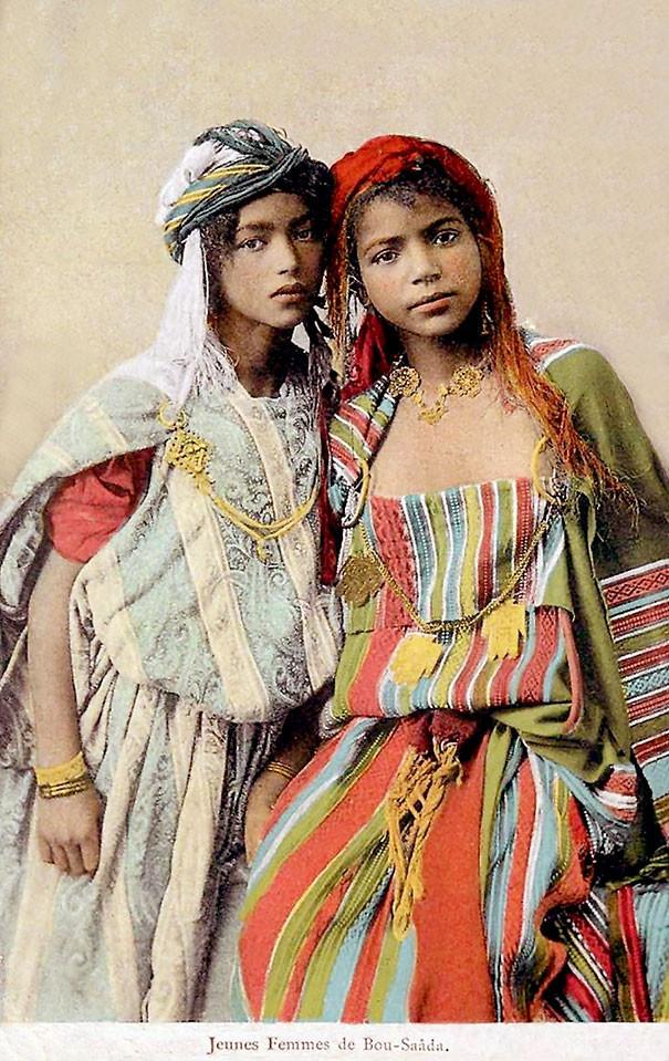 Алжирские девушки винтаж, женщины, красота, открытки, фото