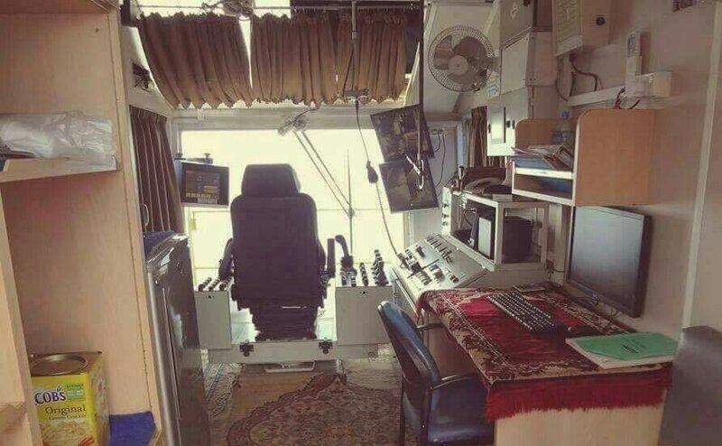 Так выглядит кабина карьерного шагающего экскаватора позитив, фото, это интересно