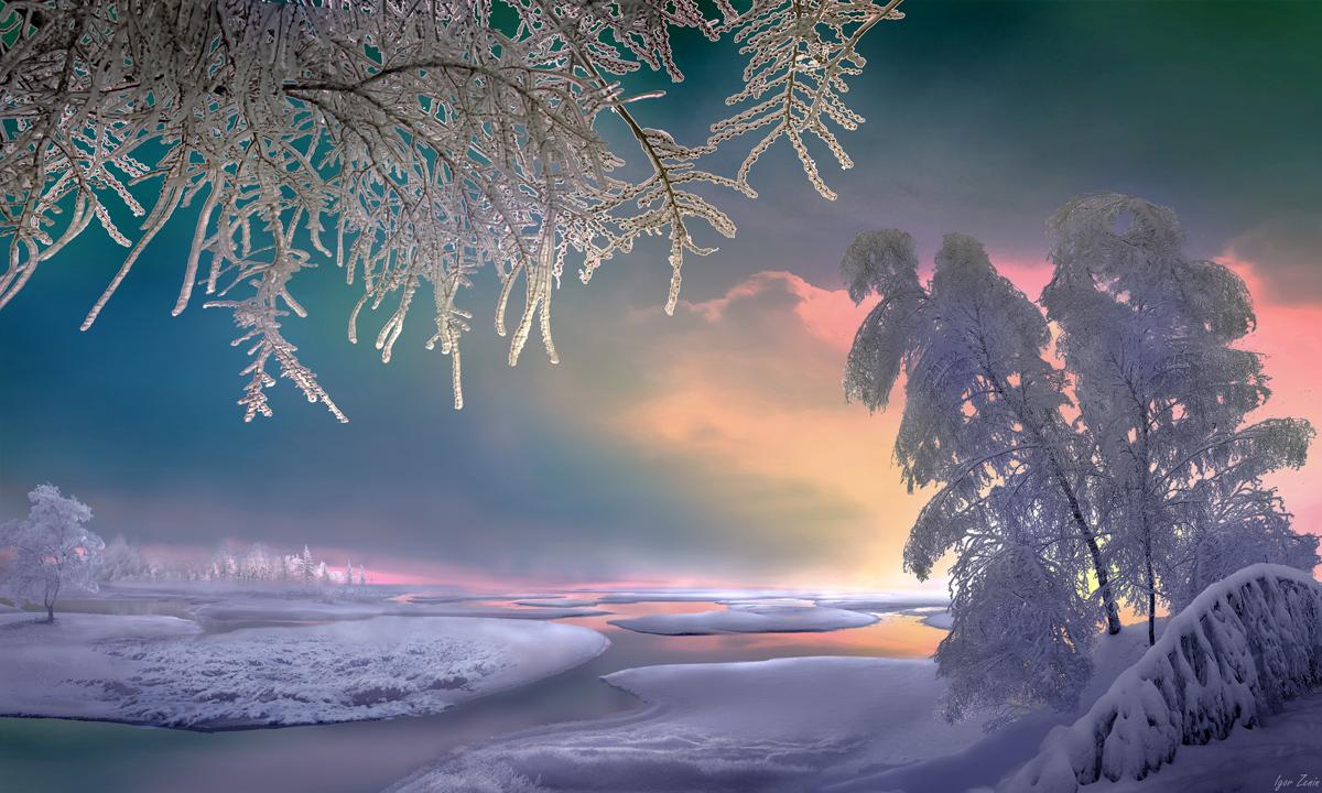 Зимний пейзаж от Игоря Зенина