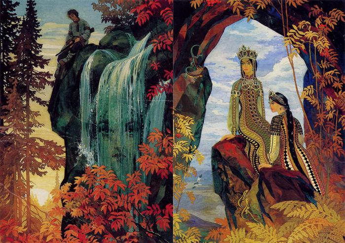 Иллюстрации к сказам Бажова.
