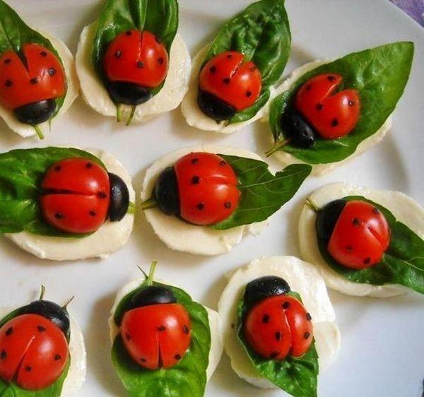 """Салат """"Капрезе"""" десерты рецепты, еда, приготовление еды"""