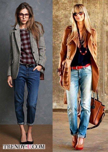 Девушки в джинсах-бойфрендах