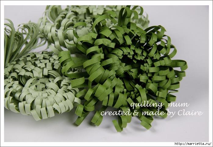 Хризантемы из бумаги. Фото мастер-класс (7) (700x482, 266Kb)