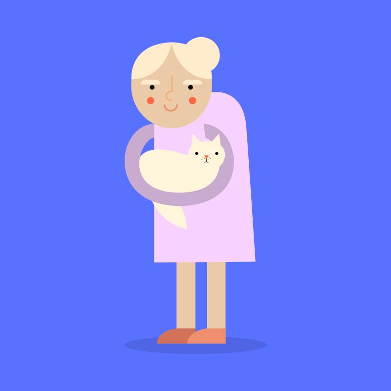 Анекдот про бабушку спостоянно беременной кошечкой