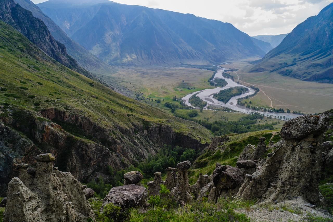 Долина реки Чулышман. красота, природа, россия