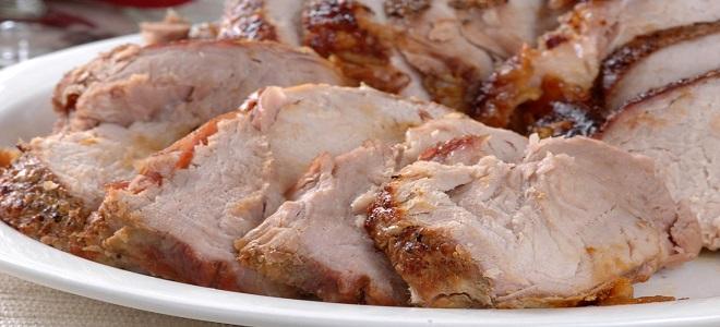Буженина из свинины в рукаве в духовке