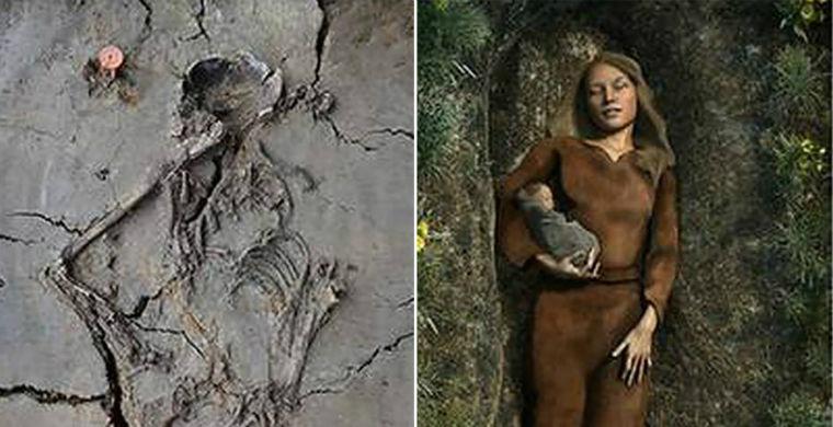 Обнаружено древнейшее захоронение матери с младенцем на руках