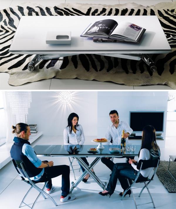 Мебель трансформер для гостиной - обеденный стол