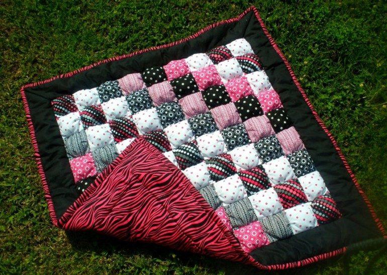 Тёплое набивное одеяло своими руками