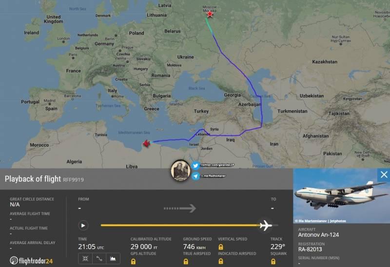 В обход Турции: в Ливию впервые прилетел российский Ан-124 «Руслан» Новости