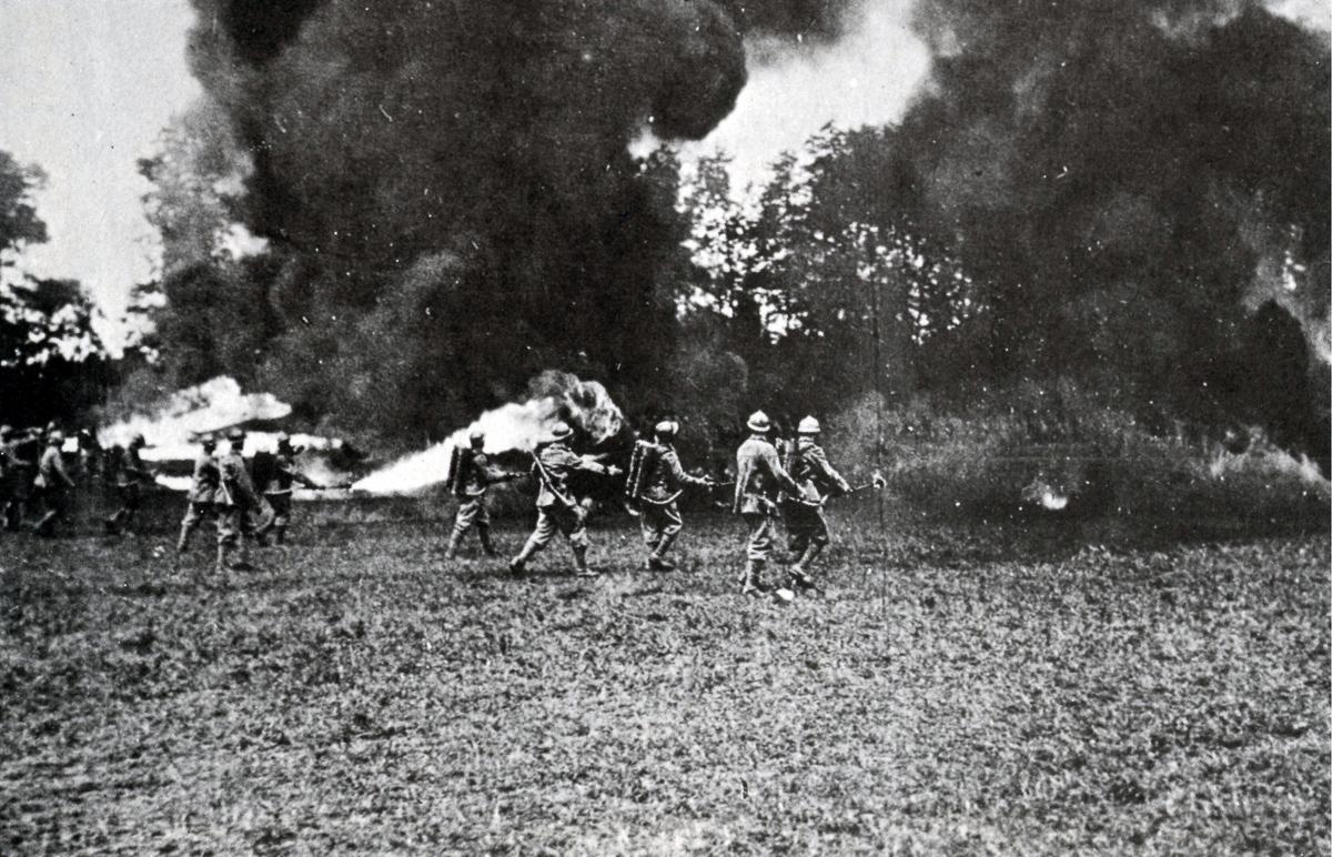Огнеметы Первой мировой войны