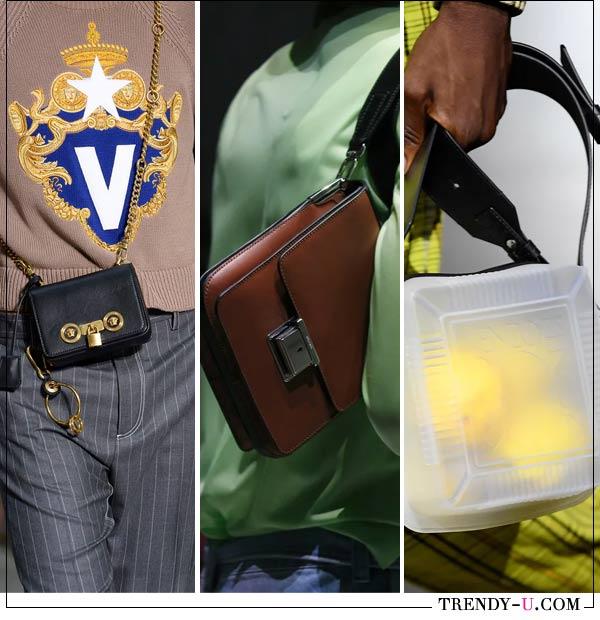 Мужские сумки от Versace, Prada и Dunhilll 2019