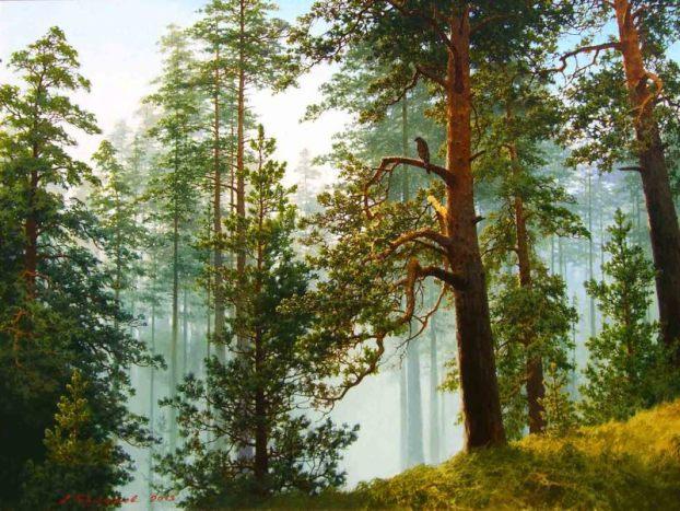 """Смотри, как роща зеленеет..."" — лирический русский пейзай кисти Александра Булакова"