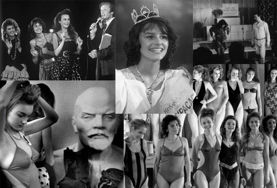 Закулисные фотографии и видео первого конкурса красоты в СССР