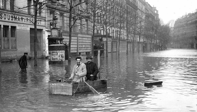 Катастрофическое наводнение в Париже 1910 года:  фоторепортаж