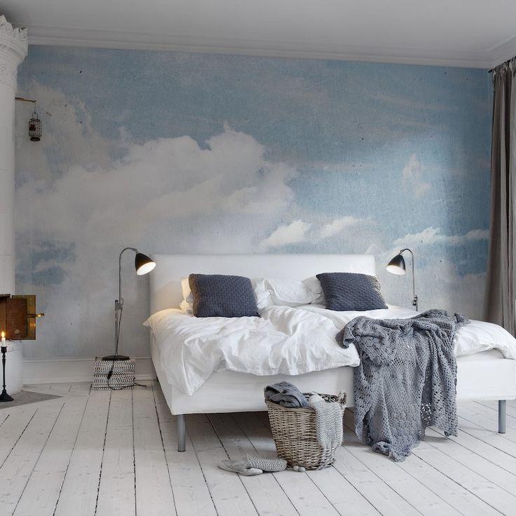 Облака в интерьере - оттенки светло-голубого