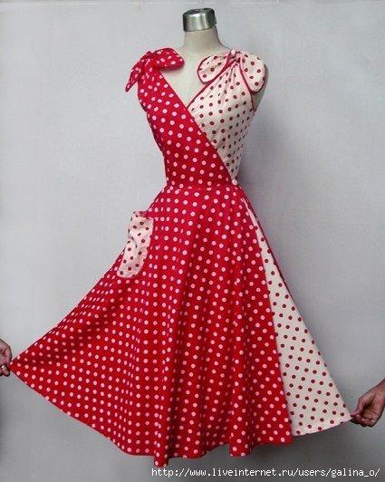 Платье  трансформер 50-х годов