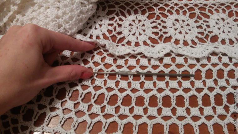 Как укоротить вязанное крючком платье