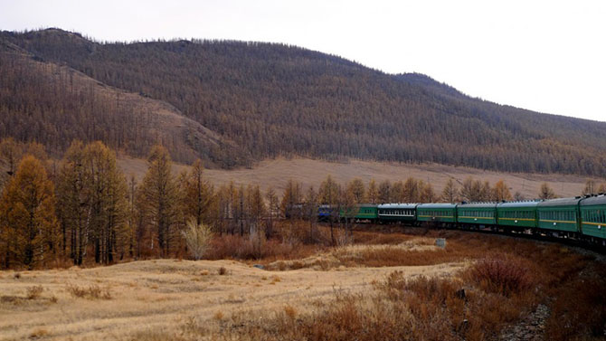From Moscow to Vladivostok by train