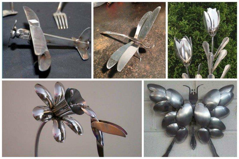 Вы не поверите в эту необычную жизнь обычных столовых приборов! вилки, ложки, ножи, сделай сам, столовые приборы, умельцы, фантазия