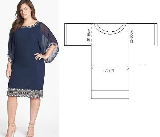Платье-туника, которое можно быстро создать (достаточно пары часов свободного времени).