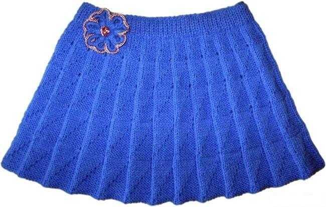 Расклешенная юбка со складочками вязаная юбка,рукоделие,своими руками,сделай сам