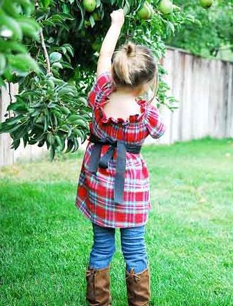 Платье-туника для девочки. Как сшить