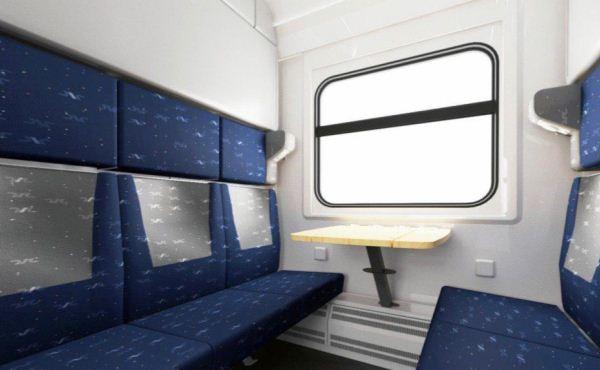 В РЖД раскрыли интерьер новых купе одноэтажных и двухэтажных вагонов