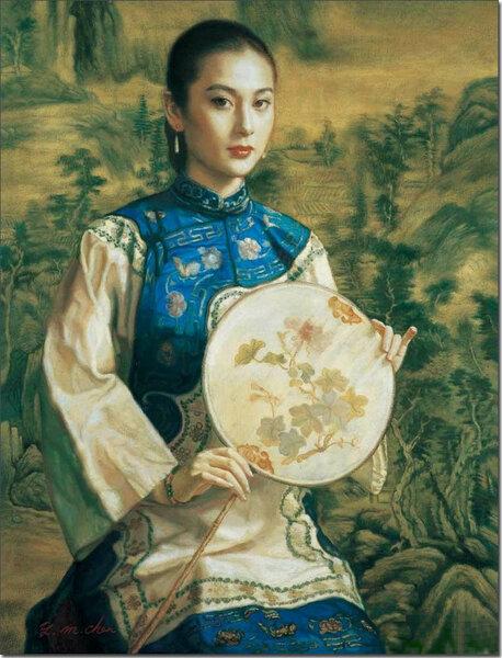 Девушка на фоне пейзажа / 女子与山水(2005)