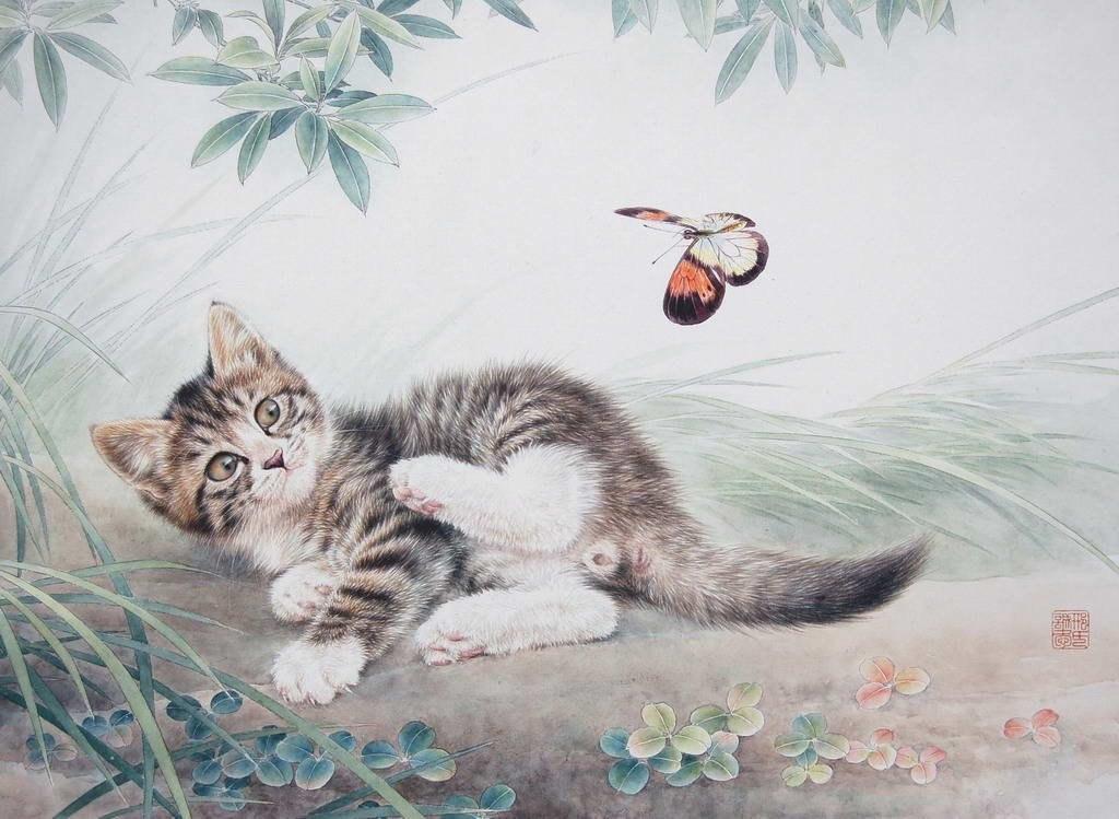 кошки в работах художника Xing Chenga