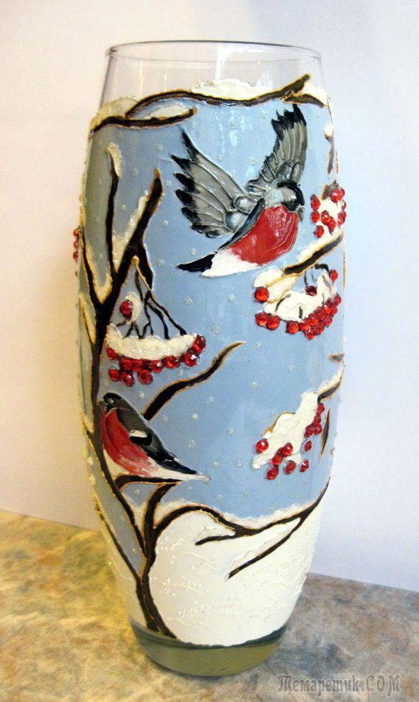 роспись на вазе рисунок уверены