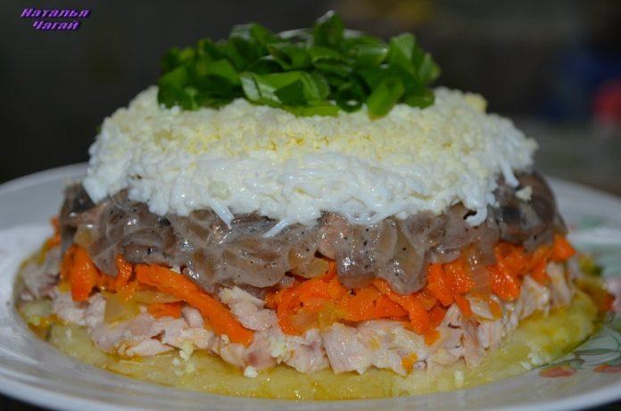 Идеальный салат «Каприз» к праздничному столу!