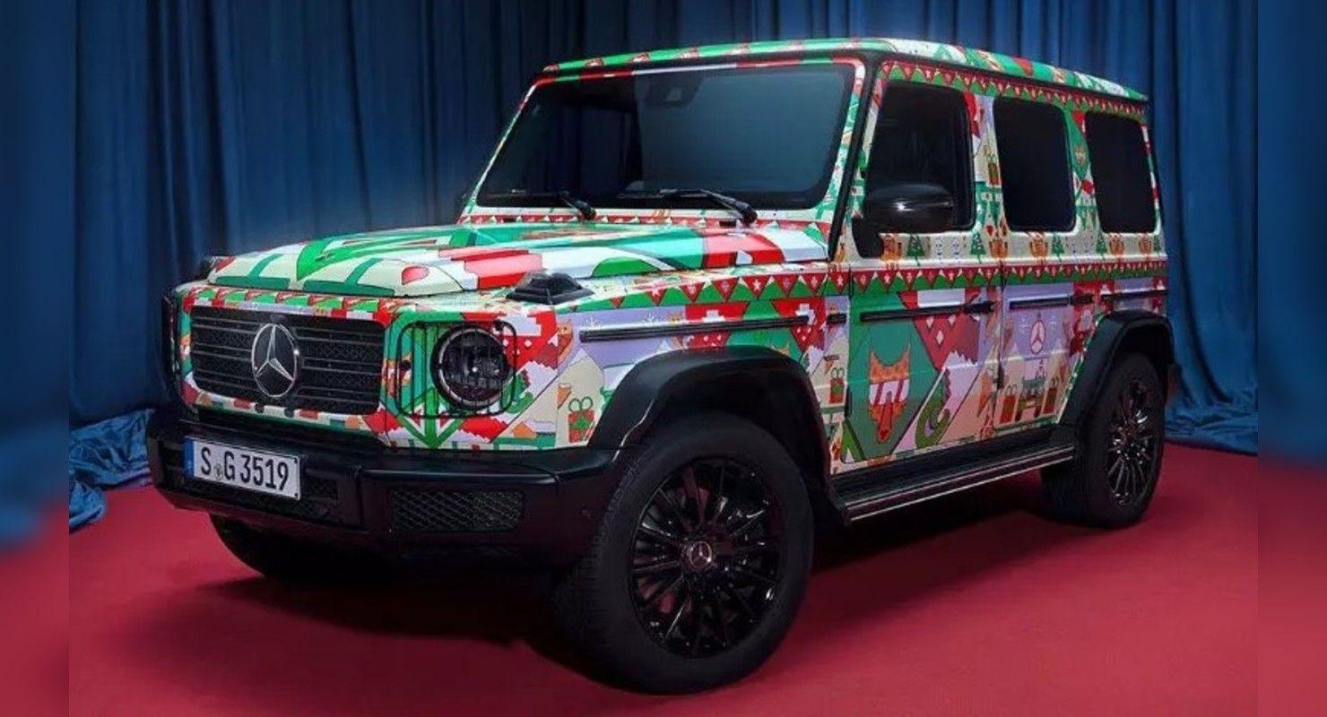 Компания Mercedes-Benz превратила две свои модели в «уродливые рождественские свитеры» Автомобили