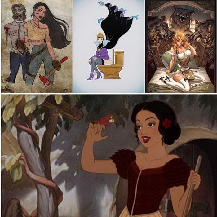 Новые сексуальные образы принцесс диснея