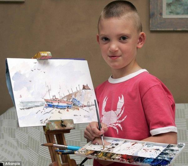Рисунки акварелью 6-летнего мальчика (13 фото)