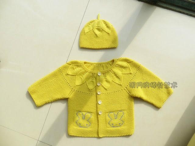 Комплекты  для малышей  с листочками спицами с описанием и схемами