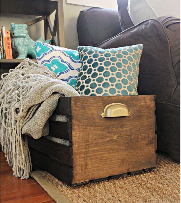 Деревянный ящик дляхранения вещей