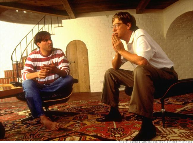 Стив Джобс и Билл Гейтс обсуждают будущее компьютеров в 1991 году