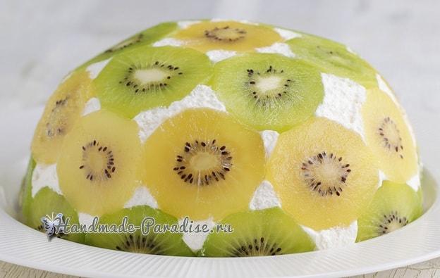 Фруктовый торт «Планета» без выпечки (1)